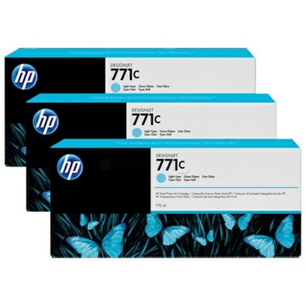 Original HP B6Y36A / 771C Tintenpatrone cyan hell 775 ml