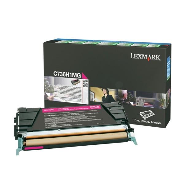 Original Lexmark C736H1MG Toner-Kit magenta return program 10.000 Seiten