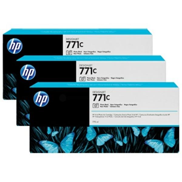 Original HP B6Y37A / 771C Tintenpatrone schwarz foto 775 ml