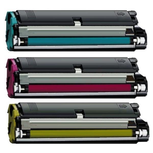 Original Konica Minolta 4576611 / 1710541100 Toner Rainbow-Kit (c,m,y) 4.500 Seiten