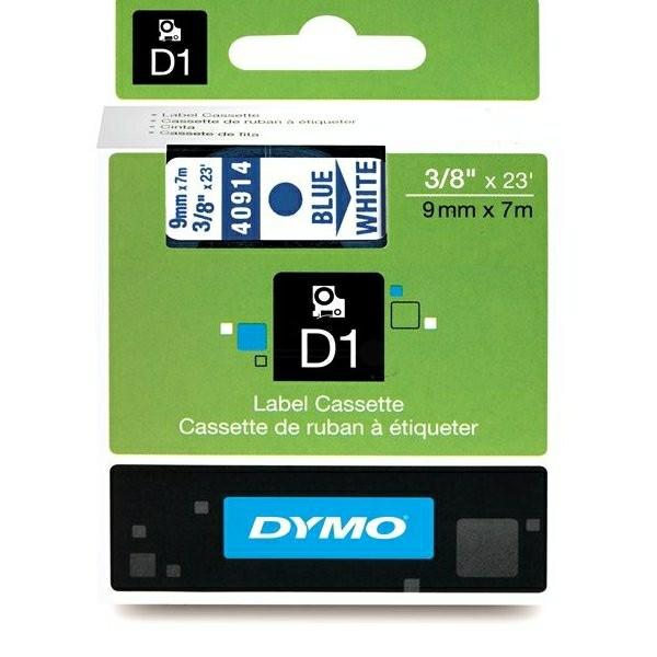 Original Dymo 40914 / S0720690 DirectLabel-Etiketten blau auf weiss