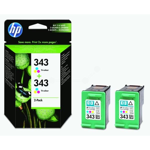 Original HP CB332EE / 343 Druckkopfpatrone color Doppelpack 7 ml 330 Seiten