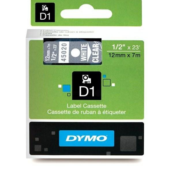 Original Dymo 45020 / S0720600 DirectLabel-Etiketten weiss auf Transparent