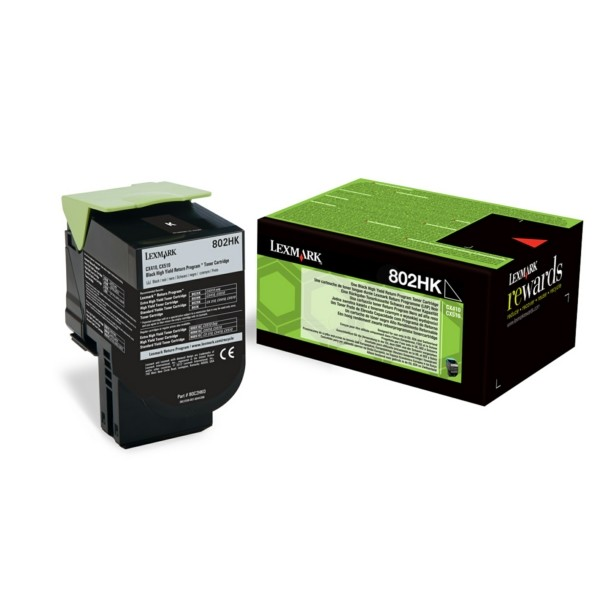 Original Lexmark 80C2HK0 / 802HK Toner-Kit schwarz return program 4.000 Seiten
