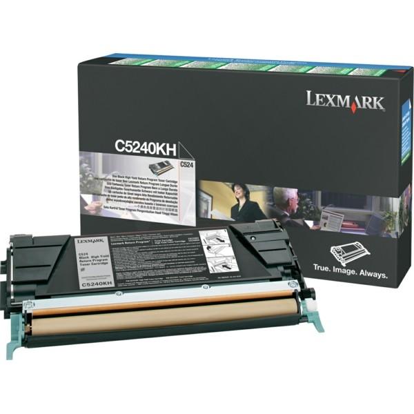 Original Lexmark C5240KH Toner-Kit schwarz return program 8.000 Seiten