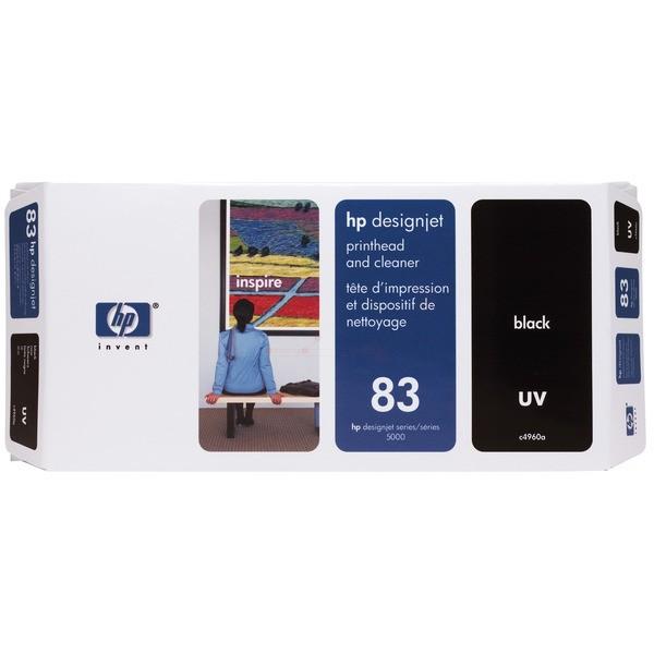 Original HP C4960A / 83 Druckkopf schwarz UV+Reinigungseinheit 13 ml
