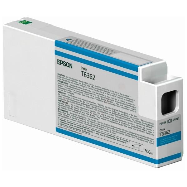 Original Epson C13T636200 / T6362 Tintenpatrone cyan 700 ml