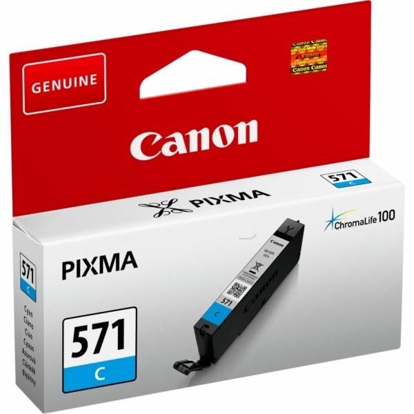 Original Canon 0386C001 / CLI-571 C Tintenpatrone cyan 7 ml 311 Seiten