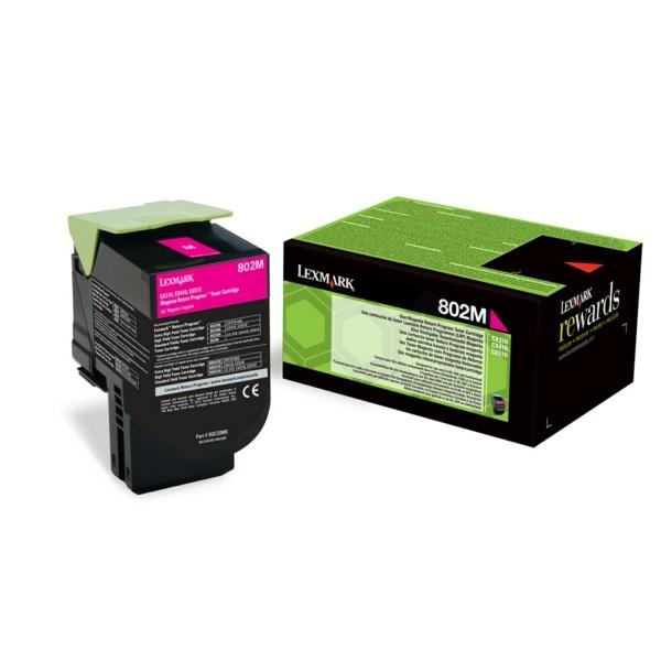 Original Lexmark 80C20M0 / 802M Toner-Kit magenta return program 1.000 Seiten