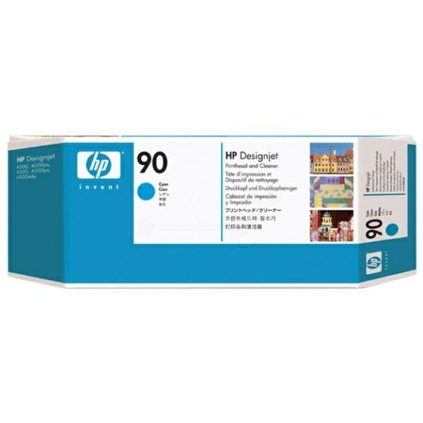 Original HP C5055A / 90 Druckkopf cyan +Druckkopfreiniger 400 ml