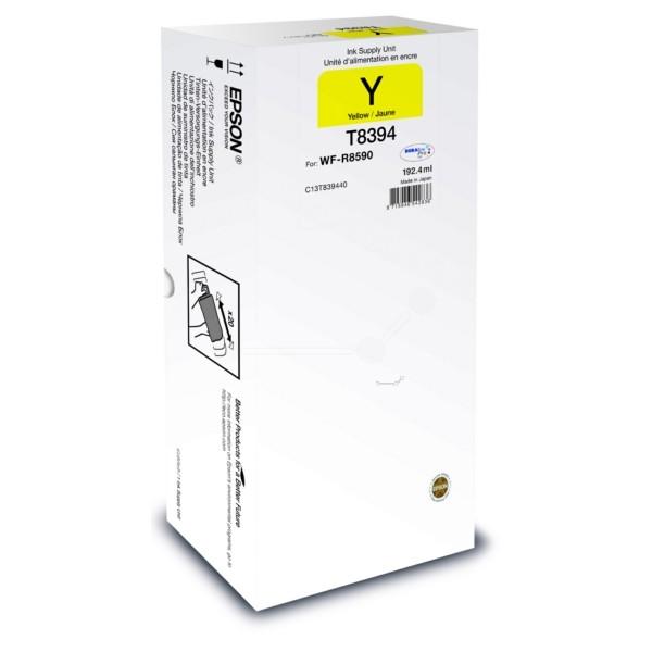Original Epson C13T839440 / T8394 Tintenpatrone gelb 192,4 ml