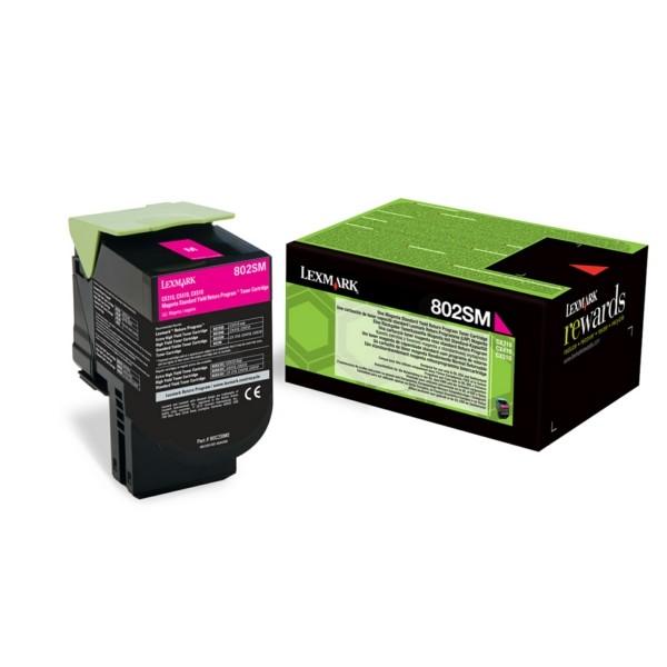 Original Lexmark 80C2SM0 / 802SM Toner-Kit magenta return program 2.000 Seiten