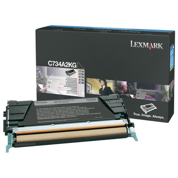 Original Lexmark C734A2KG Toner-Kit schwarz 8.000 Seiten