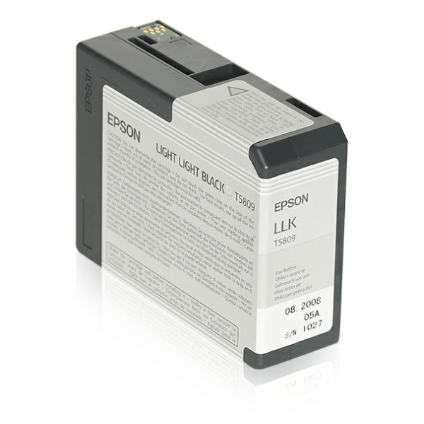 Original Epson C13T580900 / T5809 Tintenpatrone schwarz hell hell 80 ml