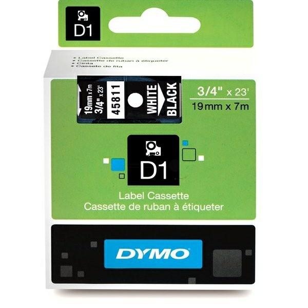 Original Dymo 45811 / S0720910 DirectLabel-Etiketten weiss auf schwarz