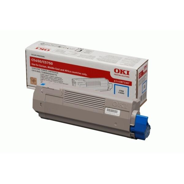 Original OKI 43872307 Toner cyan 2.000 Seiten