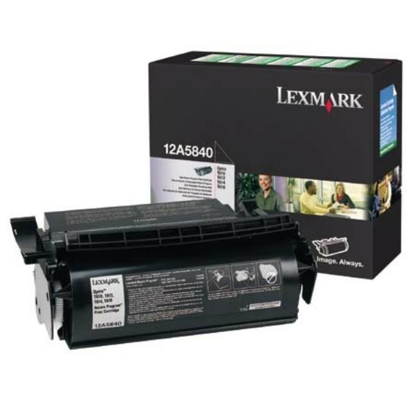 Original Lexmark 12A5840 Tonerkartusche schwarz return program 10.000 Seiten