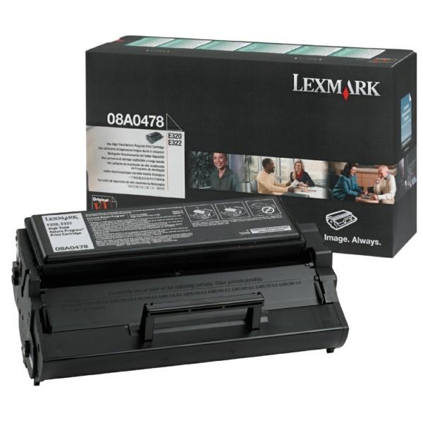Original Lexmark 8A0478 Tonerkartusche schwarz return program 6.000 Seiten