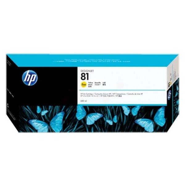 Original HP C4933A / 81 Tintenpatrone gelb 680 ml 1.400 Seiten