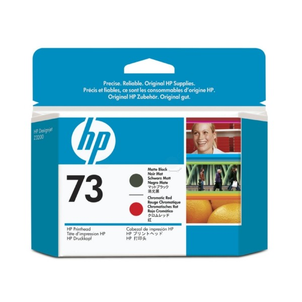 Original HP CD949A / 73 Druckkopf schwarz matt +chrom. rot 130 ml
