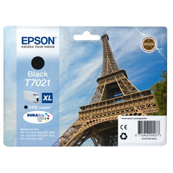 Original Epson C13T70214010 / T7021 Tintenpatrone schwarz XL 45,2 ml 2.400 Seiten