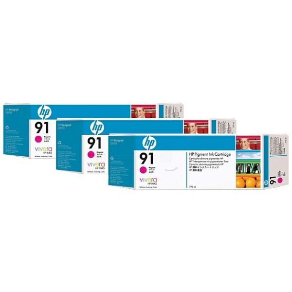 Original HP C9484A / 91 Tintenpatrone magenta 775 ml