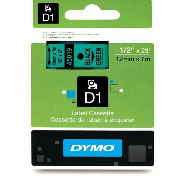 Original Dymo 45019 / S0720590 DirectLabel-Etiketten schwarz auf grün