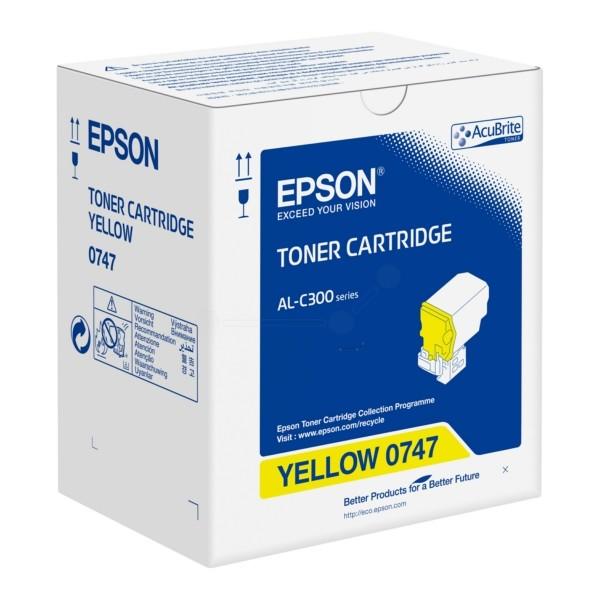 Original Epson C13S050747 / 0747 Toner-Kit gelb 8.800 Seiten
