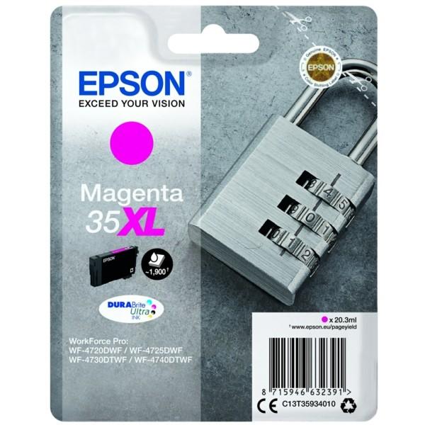 Original Epson C13T35934010 / 35XL Tintenpatrone magenta 20,3 ml 1.900 Seiten