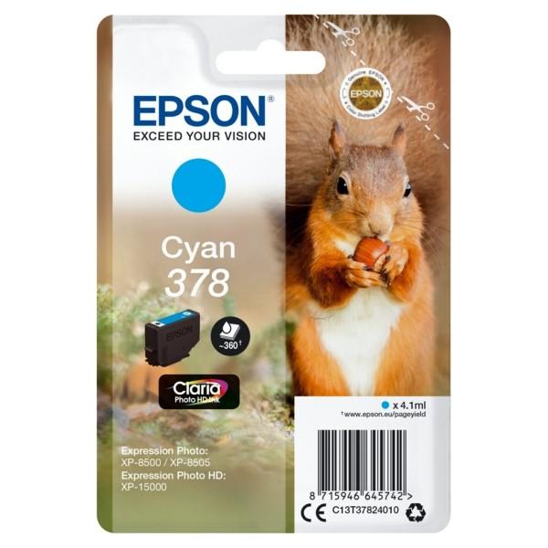Original Epson C13T37824010 / 378 Tintenpatrone cyan 4,1 ml 360 Seiten