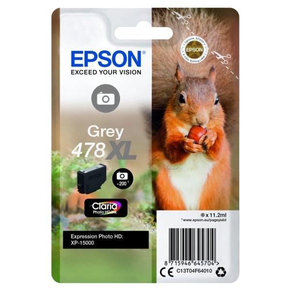 Original Epson C13T04F64010 / 478XL Tintenpatrone grau 11,2 ml