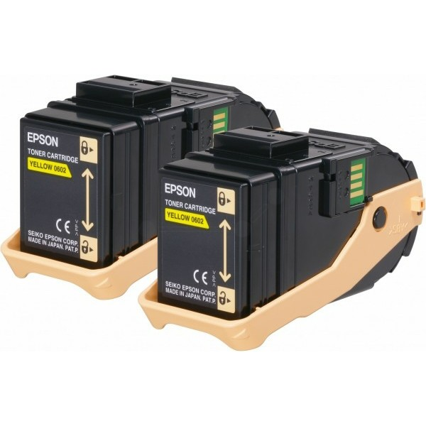 Original Epson C13S050606 / 0602 Tonerkartusche gelb 7.500 Seiten