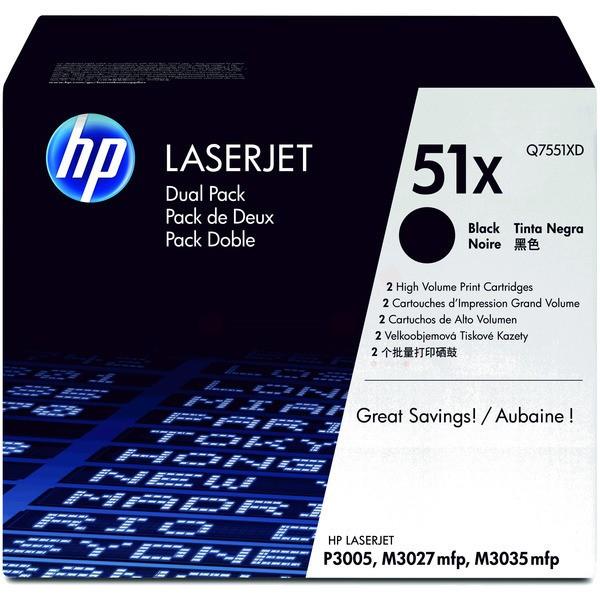 Original HP Q7551XD / 51XD Tonerkartusche schwarz Doppelpack 13.000 Seiten