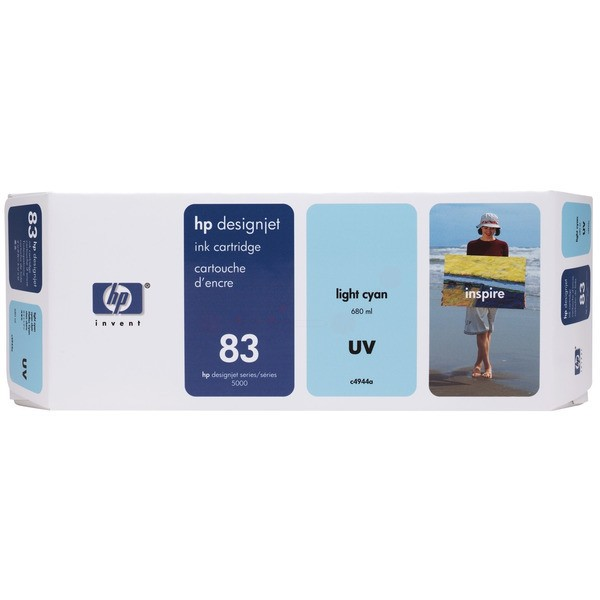 Original HP C4944A / 83 Tintenpatrone cyan hell ,UV-Tinte 680 ml