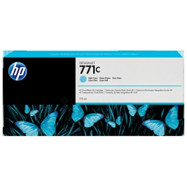 Original HP B6Y12A / 771C Tintenpatrone cyan hell 775 ml