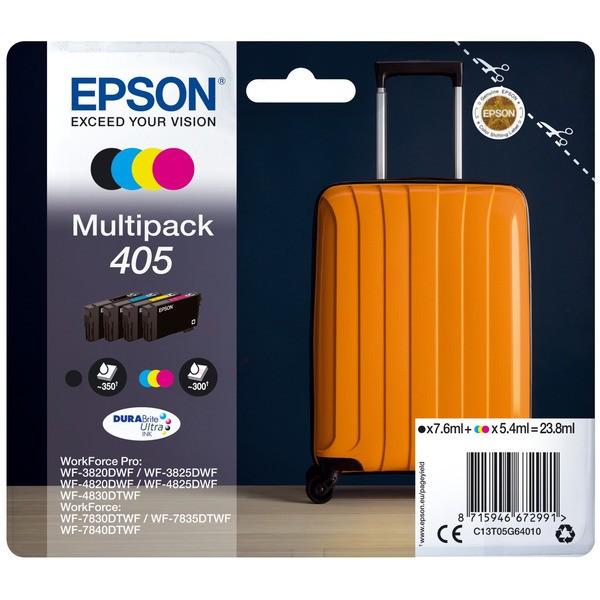 Original Epson C13T05G64010 / 405 Tintenpatrone MultiPack Bk,C,M,Y 7,6ml + 3x5,4ml