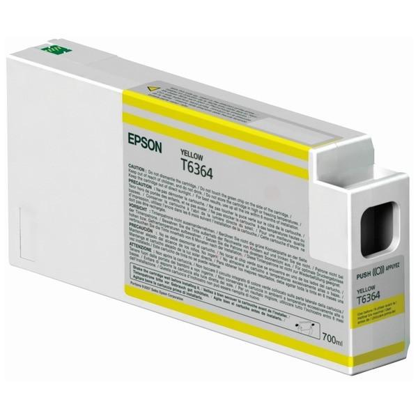 Original Epson C13T636400 / T6364 Tintenpatrone gelb 700 ml
