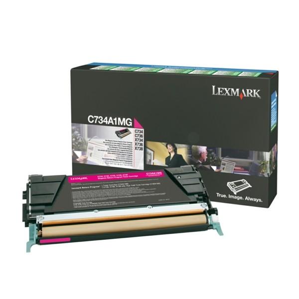 Original Lexmark C734A1MG Toner-Kit magenta return program 6.000 Seiten