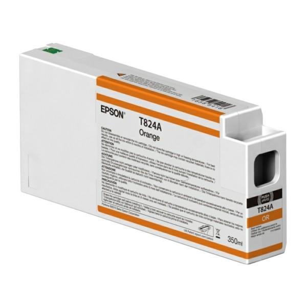 Original Epson C13T824A00 / T824A Tintenpatrone orange 350 ml