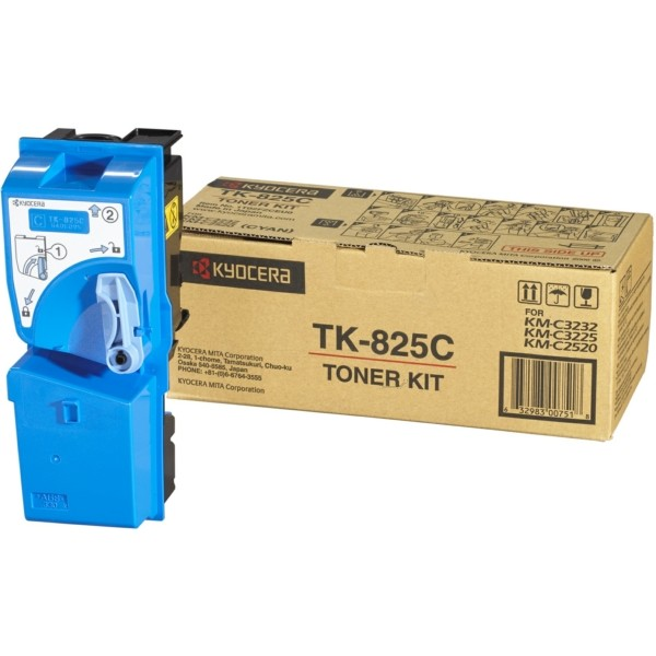 Original Kyocera 1T02FZCEU0 / TK-825 C Toner cyan 7.000 Seiten