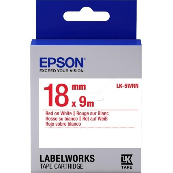 Original Epson C53S655007 / LK-5WRN Farbband rot auf weiss