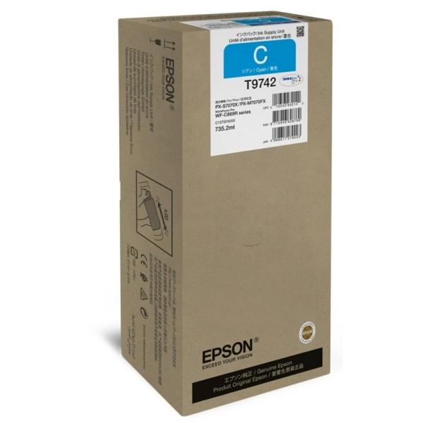 Original Epson C13T974200 / T9742 Tintenpatrone cyan 735,2 ml 84.000 Seiten