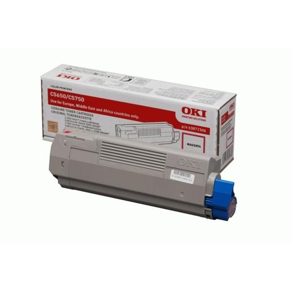 Original OKI 43872306 Toner magenta 2.000 Seiten