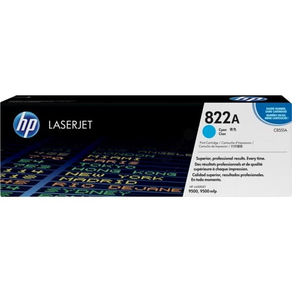Original HP C8551A / 822A Toner cyan 25.000 Seiten