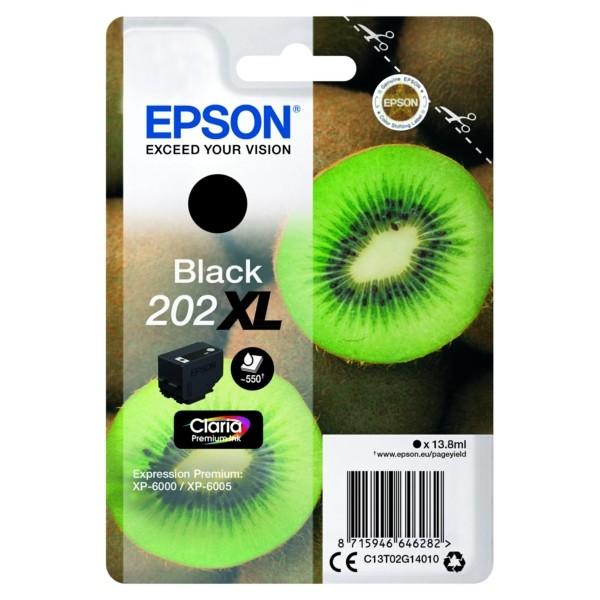 Original Epson C13T02G14010 / 202XL Tintenpatrone schwarz 13,8 ml 550 Seiten