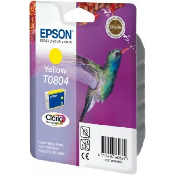 Original Epson C13T08044011 / T0804 Tintenpatrone gelb 7,4 ml 620 Seiten