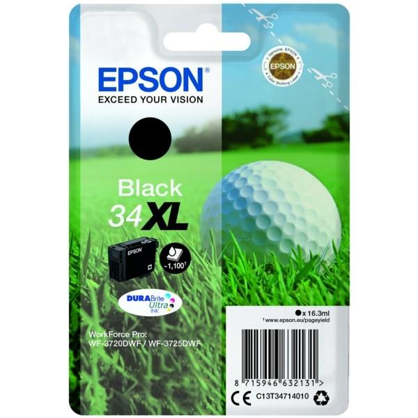 Original Epson C13T34714010 / 34XL Tintenpatrone schwarz 16,3 ml 1.100 Seiten