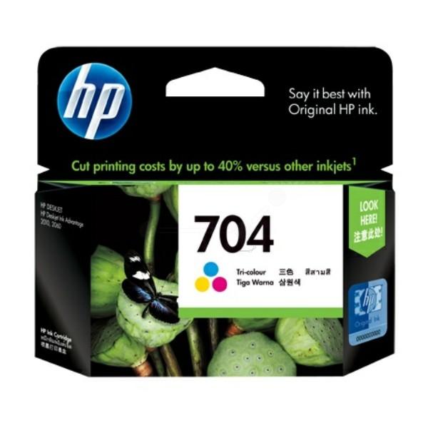 Original HP CN693AE / 704 Druckkopfpatrone color 4,5 ml 200 Seiten