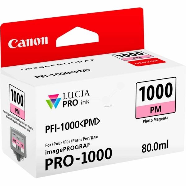 Original Canon 0551C001 / PFI-1000 PM Tintenpatrone magenta hell 80 ml 3.755 Seiten