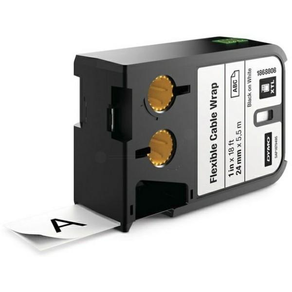 Original Dymo 1868808 DirectLabel-Etiketten Nylon cable wraps schwarz auf weiss